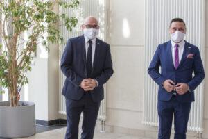 Burmistrz Mariusz Olejniczak (po Lewej) I Nadburmistrz Rene Wilke