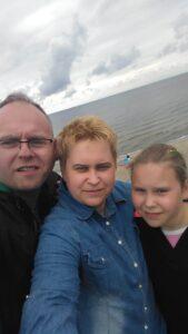Artur Dziwota Z żoną Agatą I Córką