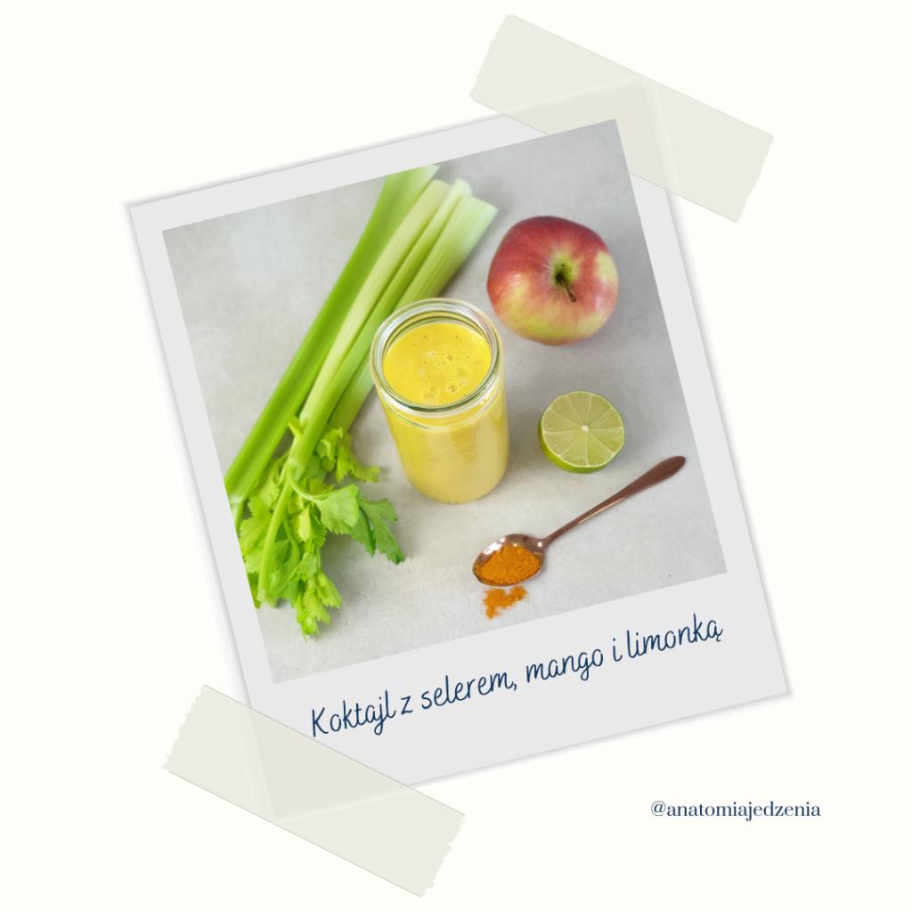 Anatomia Jedzenia Koktajl Z Selera I Mango Z Limonką