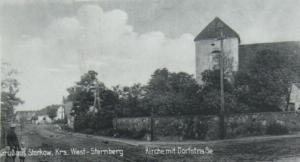 Dawny kościół w Starkowie. Zdjęcie z okresu przedwojennego