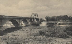 Most przed wojną. Widok od strony dawnego Fürstenberg