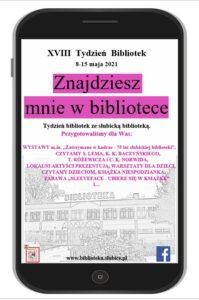 Plakat TydzieŃ Bibliotek 2021