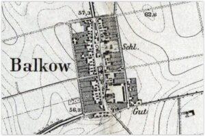 Plan Balkow z początku XX wieku
