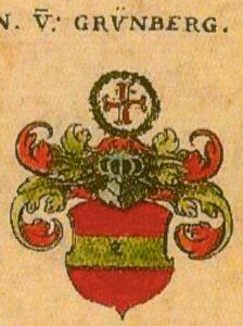 Herb rodowy rodziny Grunbergów- panów na Białkowie