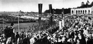 Stadion przy dzisiejszej ulicy Sportowej w połowie lat 30.