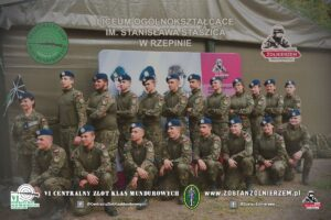 Uczniowie klasy mundurowej LO w Rzepinie. Fot. Centralny Zlot Klas Mundurowych