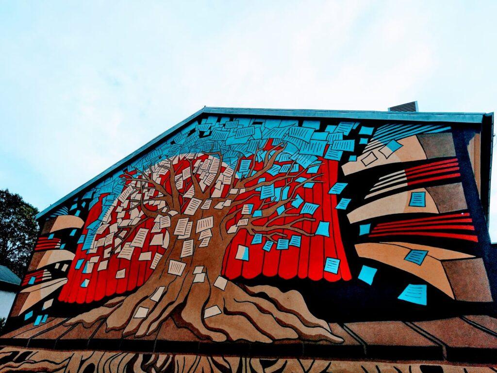 mural przy ul warszawskiej gorzow wlkp